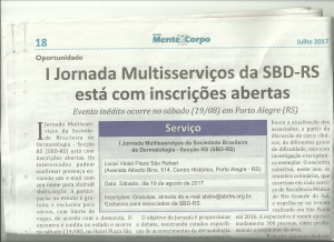 Julho 2017 SBD-RS 2