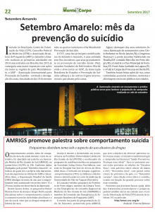Setembro Jornal Mente e Corpo AMRIGS