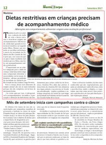 Setembro Jornal Mente e Corpo SPRS
