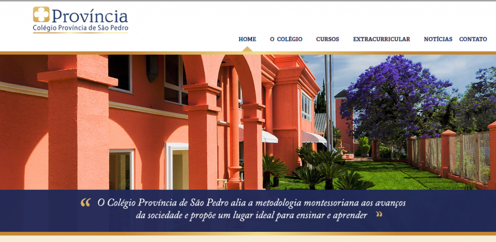 site Colégio Província