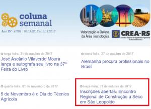 Newsletter CREA-RS Encontro Regional de Construcao a Seco
